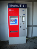 The Deutsche Bahn ticket machine