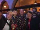 Guys out wearing their Pac Man Pajamas