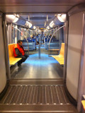 The Worm - This modern open train looks like an optical trick when you ride it
