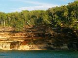 Trees falling into the lake due to water and wind erosion - Pictured Rocks National Lakeshore