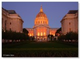 S. F. City Hall in Orange  Giants World Series Win