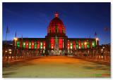 San Francisco Civic center Holiday  colors