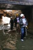 Inside the channel, beneath Whitney era bridge