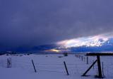 Winter Storm over Promontory Range; February, 2009