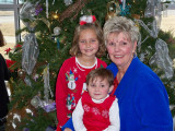 Christmas '08 Jo Ann Solomon, with grand children Taylor and Hunt.