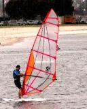 Mission Bay wind surfer, San Diego