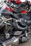 A stack of Harleys