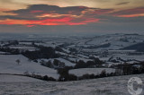 Sunset over the Exe Valley