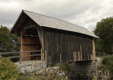 Martin Covered Bridge on the Winooski River in Vermont  S10 #7882