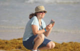Kathy snapping shore bird picts