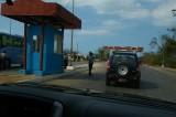 Guard station on causeway