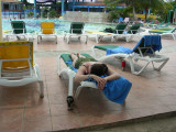 Pool-side nap