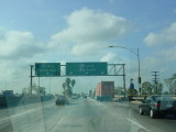 freeway sign in Los Angles