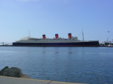 Queen Mary ocean  Long Beach harbor