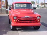 1957 Chevy pickupcustom red 31001/2 ton pickup truck
