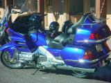 blue motorcycle  Wickenburg Arizona