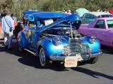 blue custom car