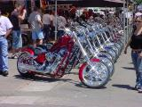 row of choppers