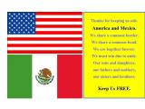 America and Mexico together forever. . . .