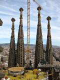 Torres de la Façana del Naixement desde la Torre de la Passió