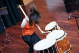 Beating taiko drums with emotion