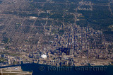 Aerial view of downtown Toronto with Rogers Centre and highrise towers