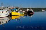 Fishing boats at The Crick or Fishermans Cove Eastern Passage Halifax Nova Scotia