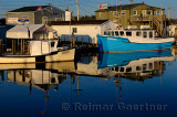 Deep sea shark charter boats at Fishermans Cove Eastern Passage Halifax Nova Scotia