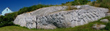 Panorama of the William DeGarthe granite sculpture at Memorial Park in Peggys Cov