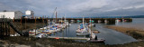 Panorama of the Digby Marina on the Annapolis River Nova Scotia at low tide