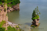 Flowerpot Rock at Fownes Head lookout along the Fundy Trail Parkway New Brunswick