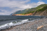 Beach at Cap Rouge with Cabot Trail in Cape Breton Highlands National Park