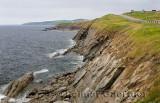 Coastal Cabot Trail road on the Gulf of St Lawrence Cape Breton Island Nova Scotia