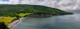 Panorama of Village of Capstick at the north tip of Cape Breton Island Nova Scotia