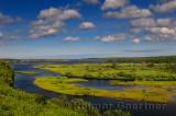 Salt marsh on North Aspy River at North Harbour Asby Bay Cape Breton Nova Scotia