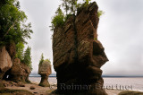 Face of ET and Motherinlaw sea stacks at Hopewell Rocks Bay of Fundy New Brunswick