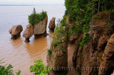 Flower Pot sea stacks with incoming tide at Hopewell Rocks Bay of Fundy New Brunswick