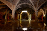 Reflection of skylight in underground Portuguese cistern in the old city of El Jadida Morocco