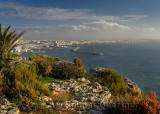 The port city of Safi Morocco from an overlook on the Atlantic Ocean