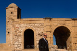 Security agent at Sqala de la Ville North Bastion at Essaouira Morocco