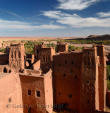 Looking over the Ounila River Valley from the top of Ait Benhaddou near Ouarzazate Morocco