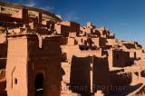 Ochre buildings at the historic earthen ksar of Ait Benhaddou near Ouarzazate Morocco