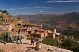 Children playing in a remote village near Ait Mannsour in the High Atlas mountains of Morocco