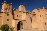 Entrance to the ancient heritage site Kasbah Amerhidl in the Skoura oasis Morocco