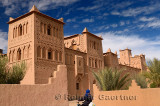 Refurbished towers of the ancient heritage site Kasbah Amerhidl in the Skoura oasis Morocco