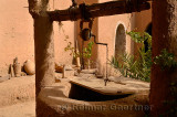 Ancient well inside the historic Kasbah Amerhidil in the Skoura oasis Morocco