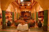 Foyer of Hotel Kasbah Lamrani berber architecture style Tinerhir Morocco