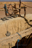 Pulley rope and bucket at Khettara well in the arid Tafilalt basin of Morocco