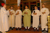 Traditional sufi brotherhood music group with chanting with darboukas in Fes Morocco