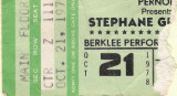 Stephane Grappelli 10/21/1978 at the Berklee Performance Center. This guy was like 70 at the time. Put on a smokin show.